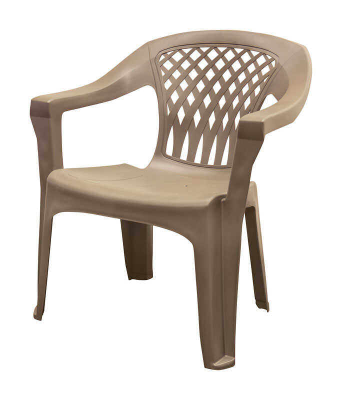 Adams  Big Easy  Brown  Polypropylene  Stackable  Chair