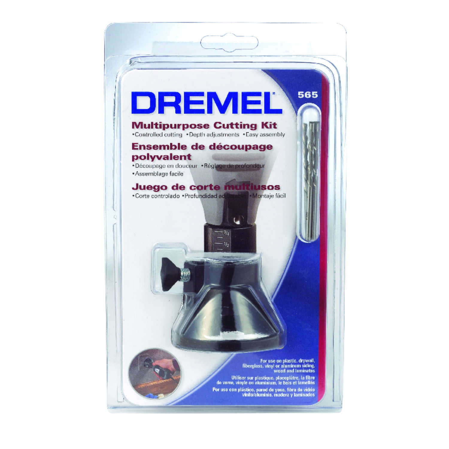 Dremel  4.2   x 6.65 in. L Plastic  Multi-Purpose Cutting Kit  4 pc.