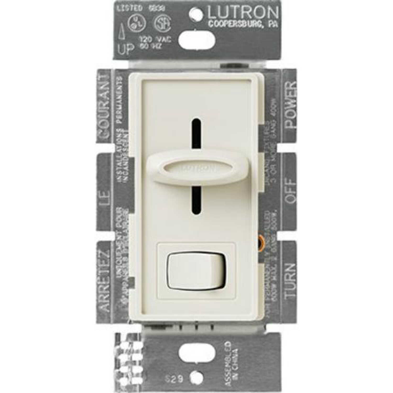 Lutron  Skylark  Light Almond  600 watts Slide  Dimmer Switch  1 pk