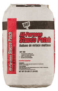 Dap All Purpose Stucco Patch Dry Mix 2-4 hr. White 25 lb.