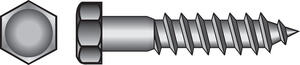 Hillman  3/8 in.  x 3-1/2 in. L Hex  Zinc-Plated  Steel  Lag Screw  50 pk