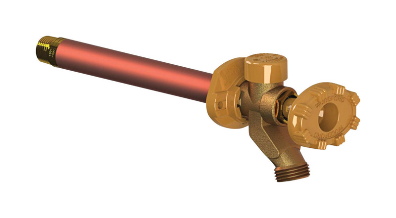 Woodford  Model 19  1/2 in. MPT  Dia. x 1/2 in. Dia. Sweat  12 in. Brass  Antisiphon Frost-Proof Fre