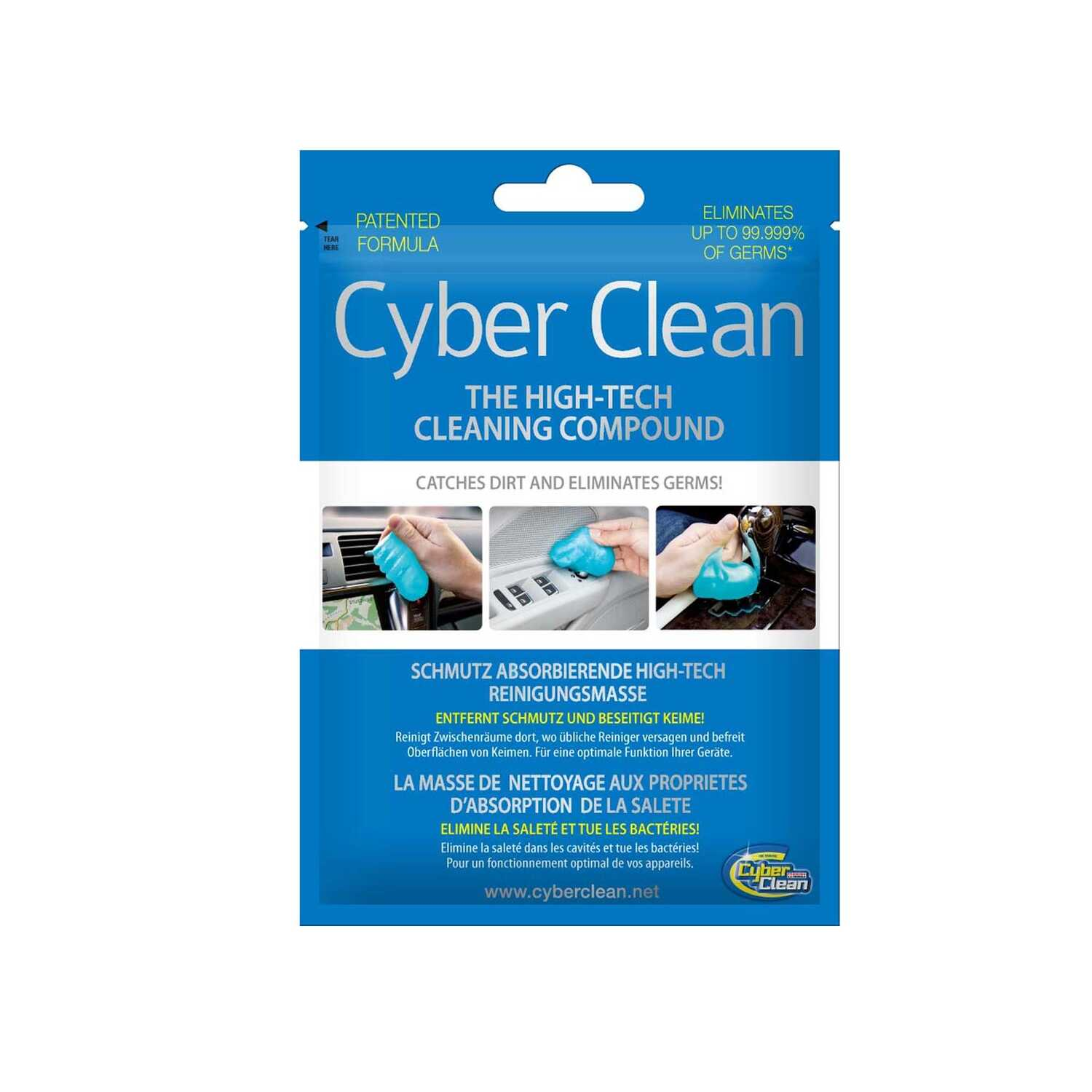 Cyber Clean  Lemon Scent Germ Eliminating Cleaning Compound  3 oz. Gel