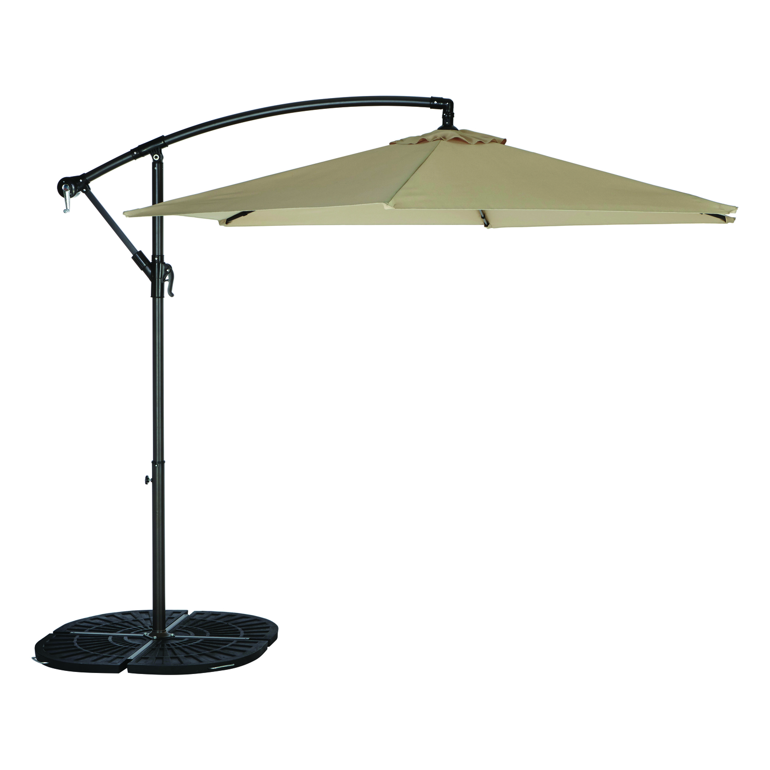 Tiltable Taupe Patio Umbrella - Living Accents Offset 9 Ft. Tiltable Taupe Patio Umbrella - Ace Hardware