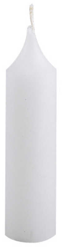 Candle-Lite  White  No Scent Scent Household Emergency Candles  5 in. H x 1-1/4 in. Dia.