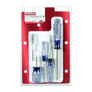 Craftsman  5 pc. Screwdriver Set  Steel  8 in.