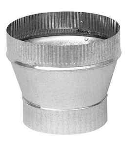 Imperial  6 in. Dia. x 7 in. Dia. Galvanized Steel  Stove Pipe Increaser