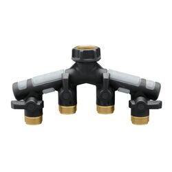 Orbit  Pro Flo  3/4 in. Metal  Threaded  Female/Male  Garden Hose Manifold