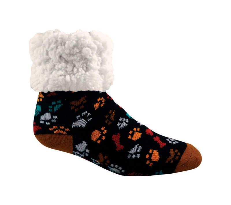 23b54be34 Pudus Dog Paws Slipper Socks Acrylic Polyester 1 pair - Ace Hardware
