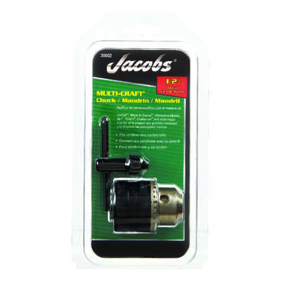 Jacobs  1/2 in. Drill Chuck  1/2 in. 3-Flat Shank  1 pc.