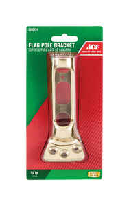 Ace  9 in. L Flag Pole Bracket  Bright