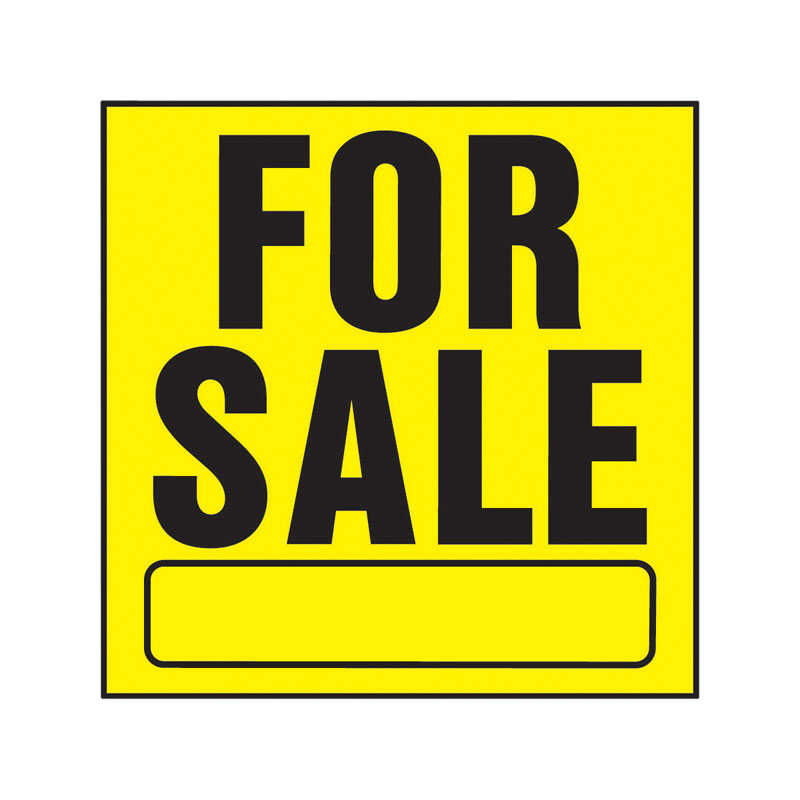 Hy-Ko  English  For Sale  11 in. H x 11 in. W Plastic  Sign