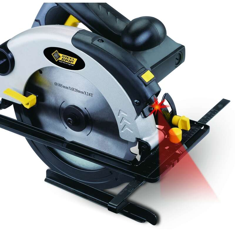 Steel Grip  7-1/4 in. 10 amps Corded  Circular Saw with Laser  5000 rpm