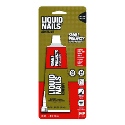 Liquid Nails  Small Projects  High Strength  Latex  Adhesive  4 oz.