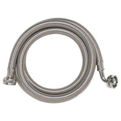 Ace 3/4 Hose Thread x 3/4 Dia. Hose Thread 4 in. Stainless Steel Supply Line