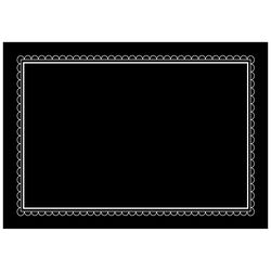 Hy-Ko English Black Blank Chalkboard Sign 8.5 in. H x 12 in. W