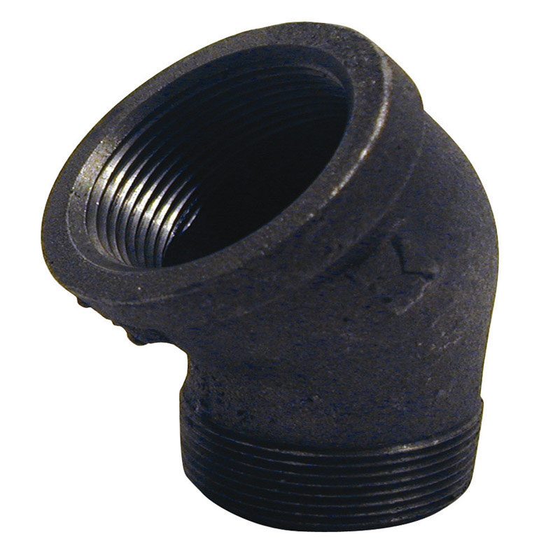 B & K  3/4 in. FPT   x 3/4 in. Dia. MPT  Black  Malleable Iron  Street Elbow