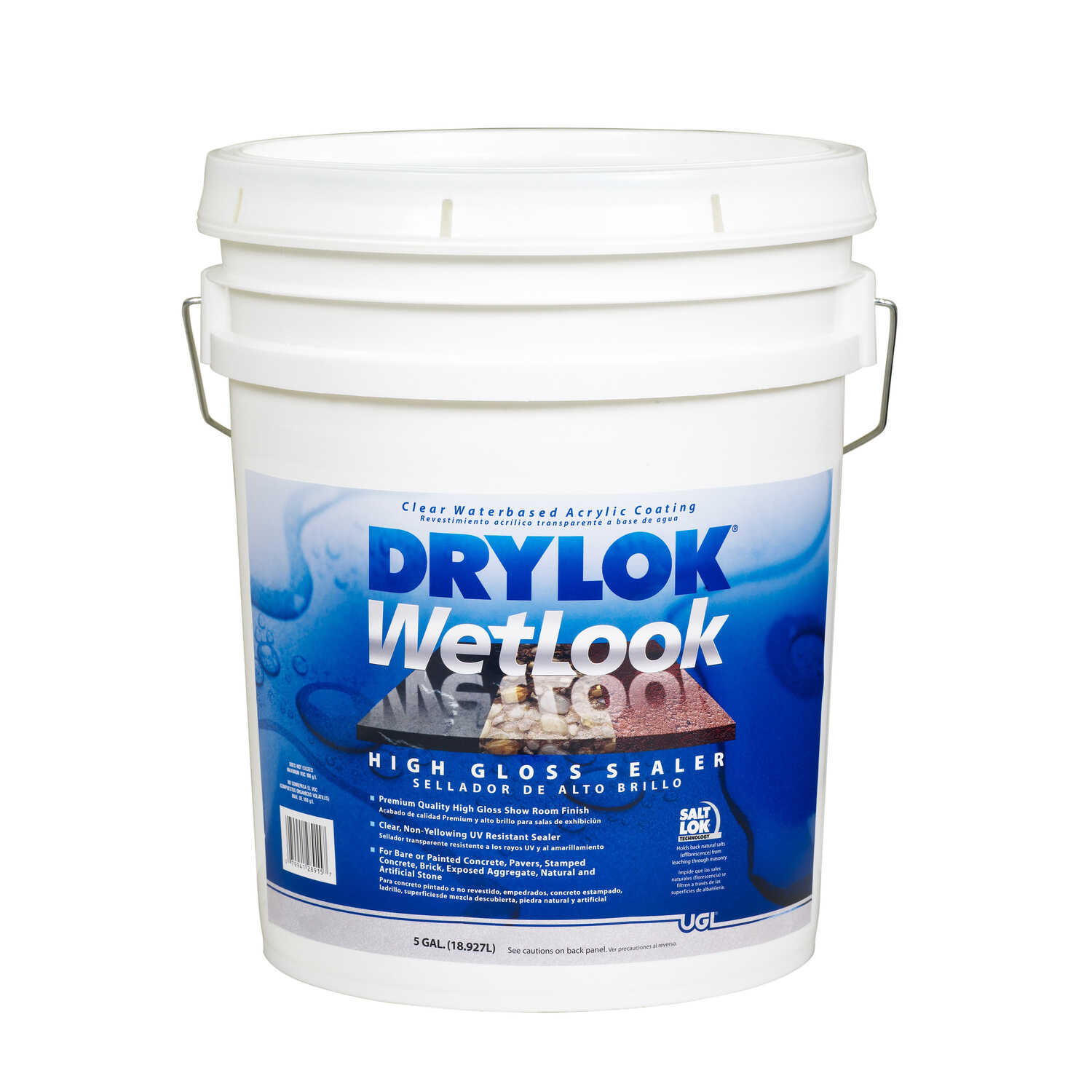 Drylok  WetLook  Clear  Clear  Latex  Concrete And Masonry Sealer  5 gal.