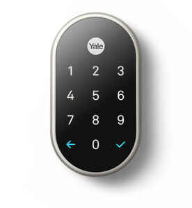 Nest  Yale  Satin Nickel  Metal  Touch Screen Deadbolt