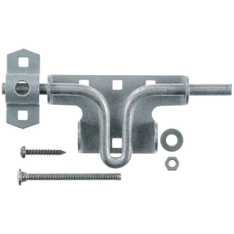 Ace  10.52 in. H x 4.75 in. W x 1.29 in. L Zinc-Plated  Zinc  Slide Bolt Gate Latch