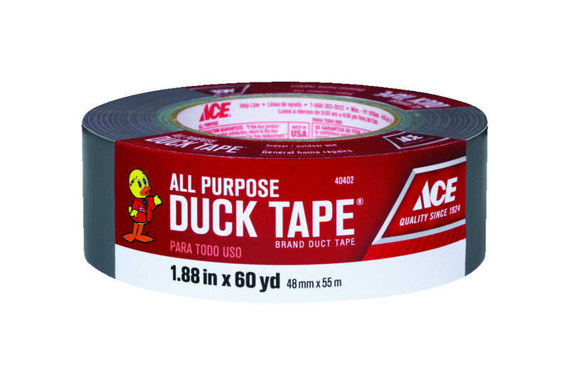 Ace  1.88 in. W x 60 yd. L Gray  Duct Tape