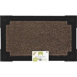 GrassWorx 30 in. L x 18 in. W Brown/Black Nonslip Door Mat
