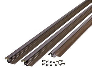 M-D Building Products  Bronze  Vinyl and Foam  Weather Stripping  For Door 36 and 84 in. L x 1 in.