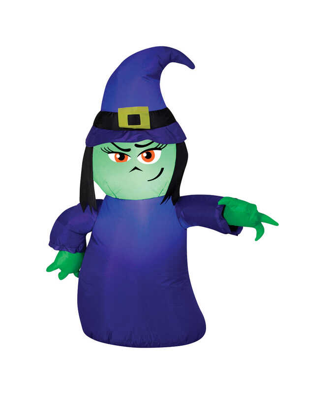 Gemmy  Attitude Witch  Lighted Halloween Inflatable  42 in. H x 8-7/16 in. W x 7-7/8 in. L 1 pk