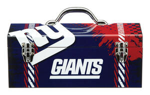 Sainty International  16.25 in. Steel  New York Giants  Art Deco Tool Box  7.1 in. W x 7.75 in. H
