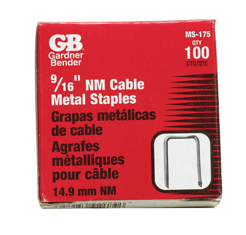 Gardner Bender  9/16 in. W Insulated Cable Staple  100 pk Steel
