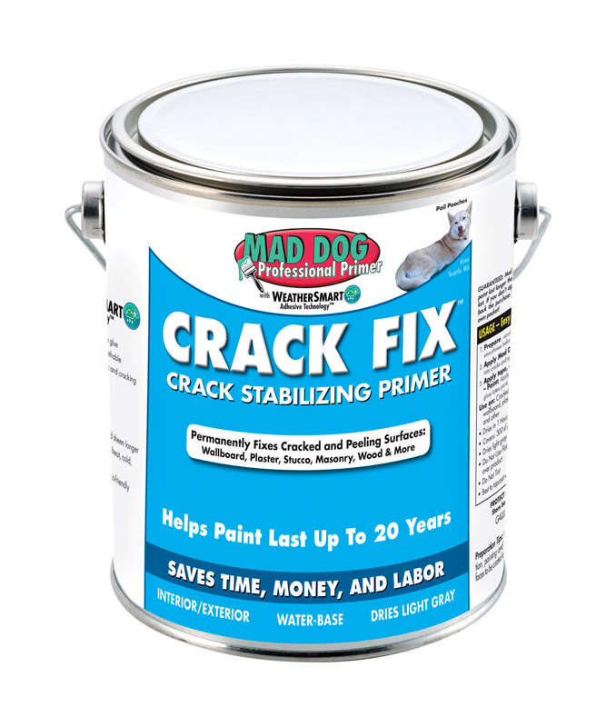 Mad Dog Crack Fix White Water-Based Acrylic Latex Crack Stabilizing Primer 1 qt.