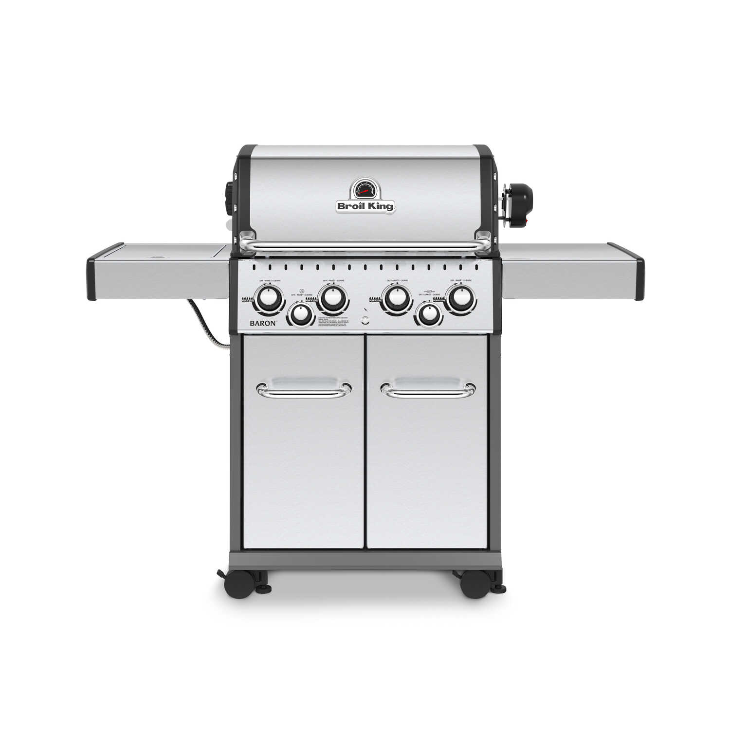 Broil King  Baron S490  4 burners Propane  Grill  Stainless Steel  40000 BTU