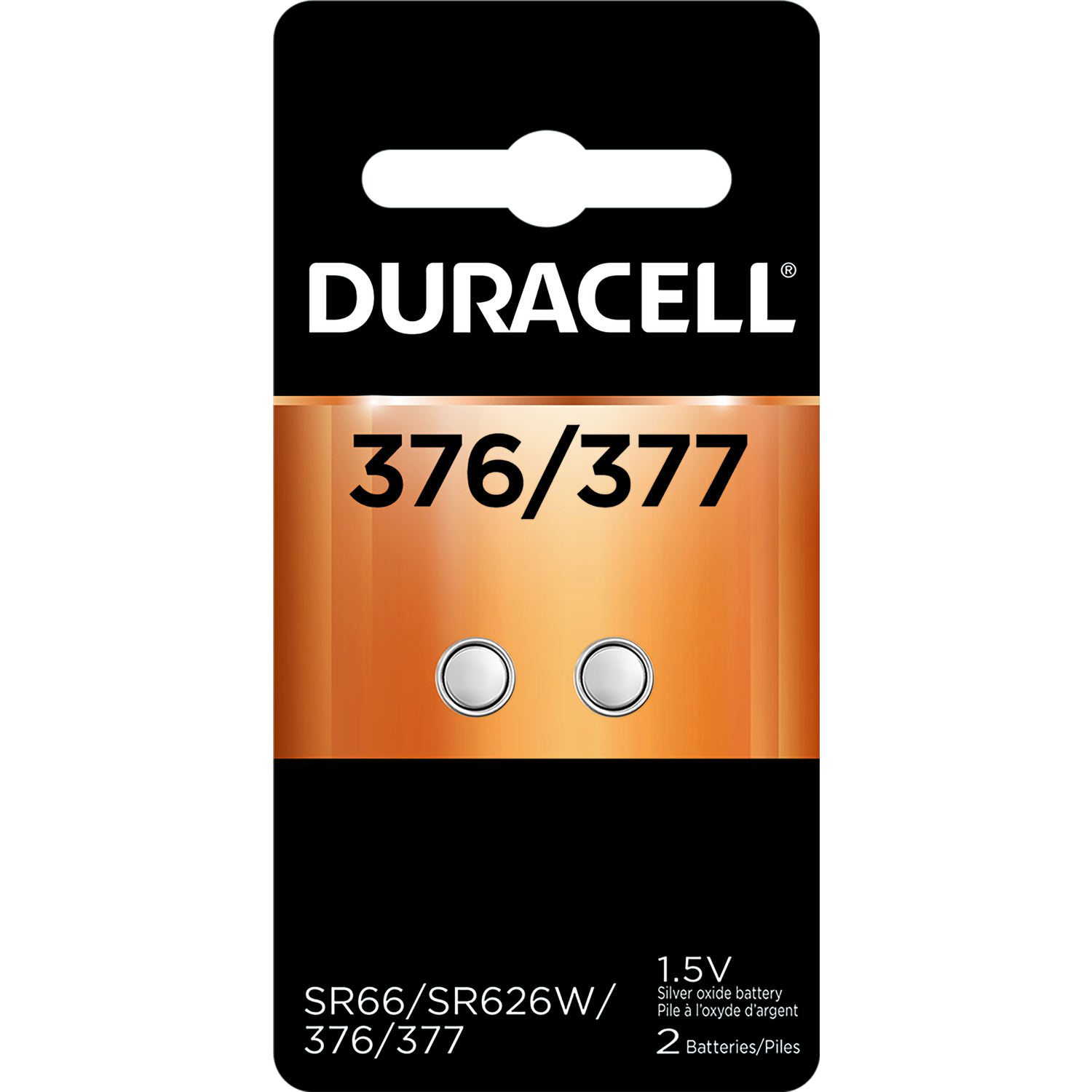 Duracell  377  Electronic/Watch Battery  Silver Oxide  2 pk