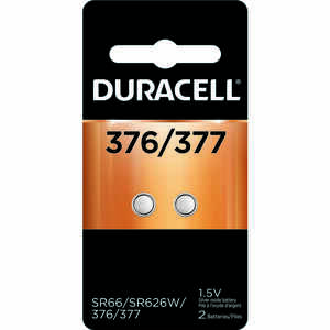Duracell  Silver Oxide  377  1.5 volt Electronic/Watch Battery  2 pk