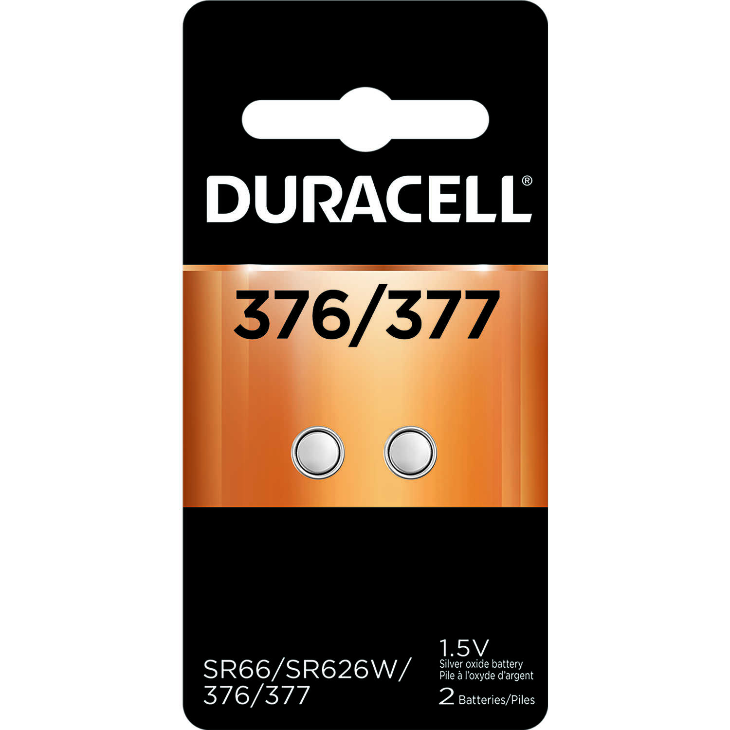 Duracell  Silver Oxide  1.5 volt Electronic/Watch Battery  2 pk 377
