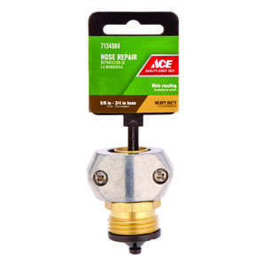Ace  5/8 or 3/4 in. Zinc  Threaded  Male  Hose Mender Clamp