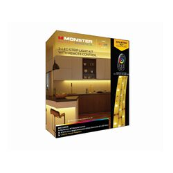 Monster Just Color It Up  6.5 ft. L Multicolored  Plug-In  LED  Mood Light Strip Kit with Adapter  3
