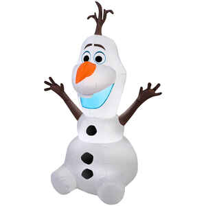 Gemmy  Olaf  Christmas Inflatable  Multicolored  Fabric