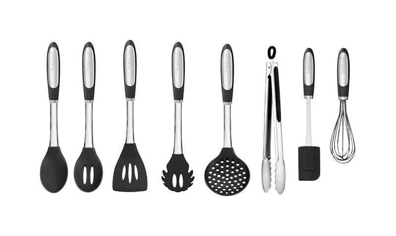 Cuisinart Elements 15.75 in. L Black Silicone Kitchen Tools ...