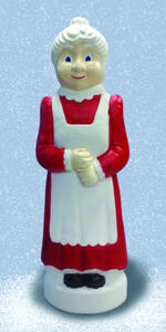 Union Products  Mrs. Claus Blow Mold  Christmas Decoration  Red/White  Resin  1 pk