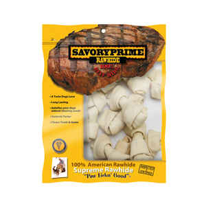 Savory Prime  Small  Adult  Knotted Bone  Natural  5 in. L 10 pk