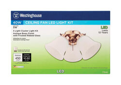 Westinghouse  Antique Brass  White  Cluster Ceiling Fan Light Kit