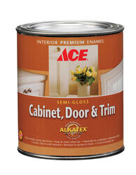 Ace  Semi-Gloss  Tintable  Ultra White Base  Alkyd-Latex Hybrid  Cabinet and Trim Paint  Indoor  1 q