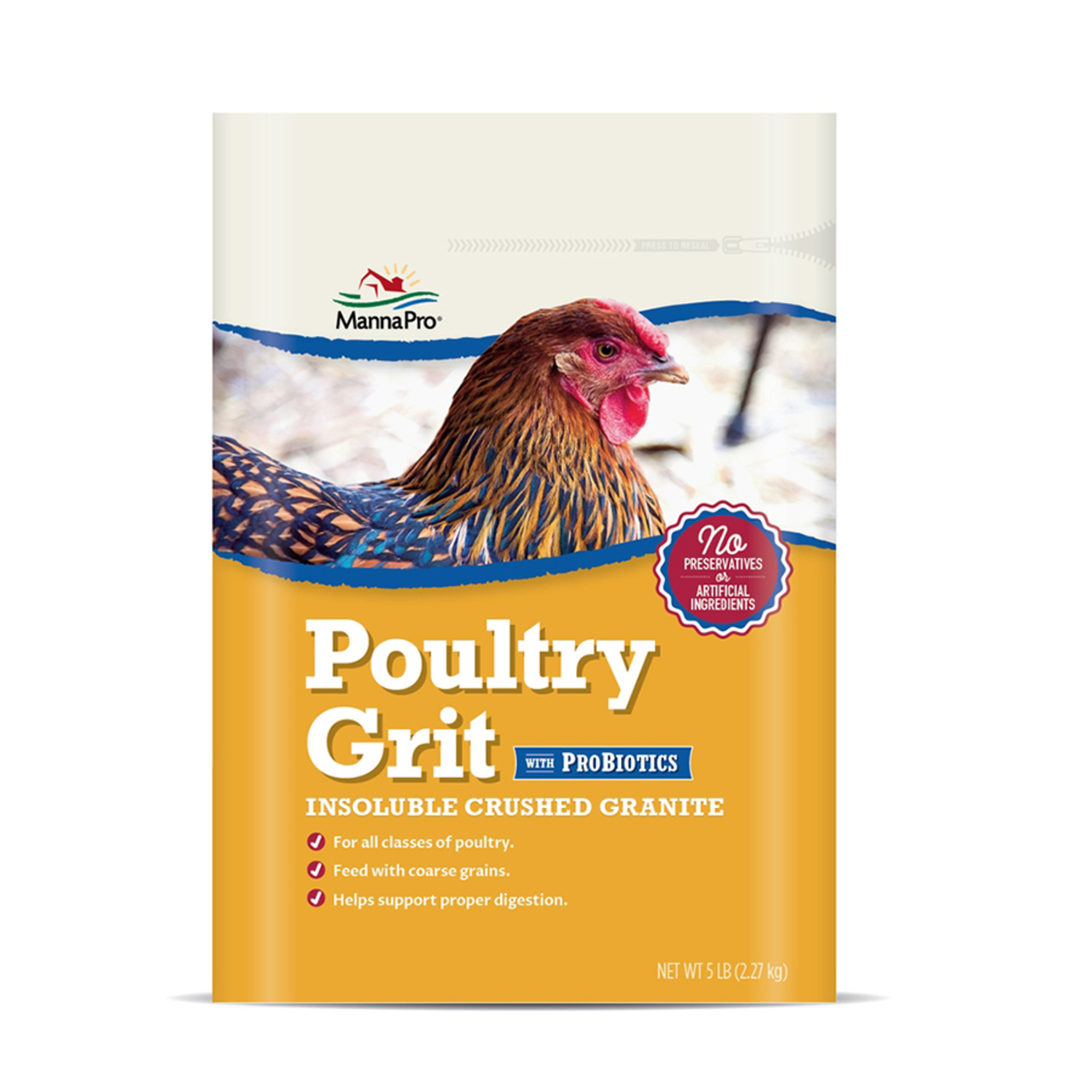 Manna Pro  Poultry Grit with ProBiotics  Insoluble Crushed Granite  For Poultry 5 lb.