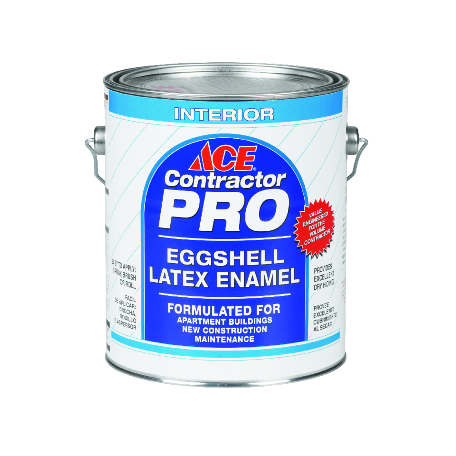 Ace  Contractor Pro  White  Tint Base  1 gal. House Paint  Eggshell