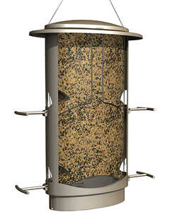 Squirrel-X  Wild Bird  4.2 lb. Plastic  Tube  Bird Feeder  4