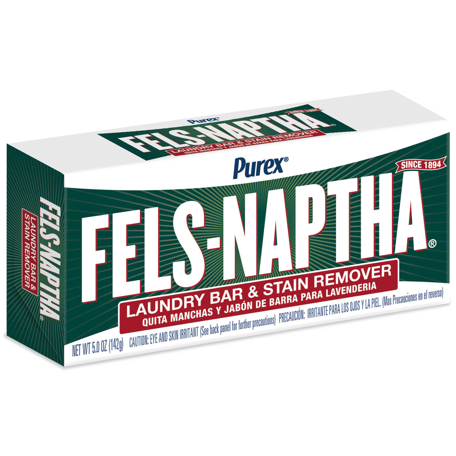 Purex Fels-Naptha Fresh Scent Laundry Stain Remover Bar 5 oz