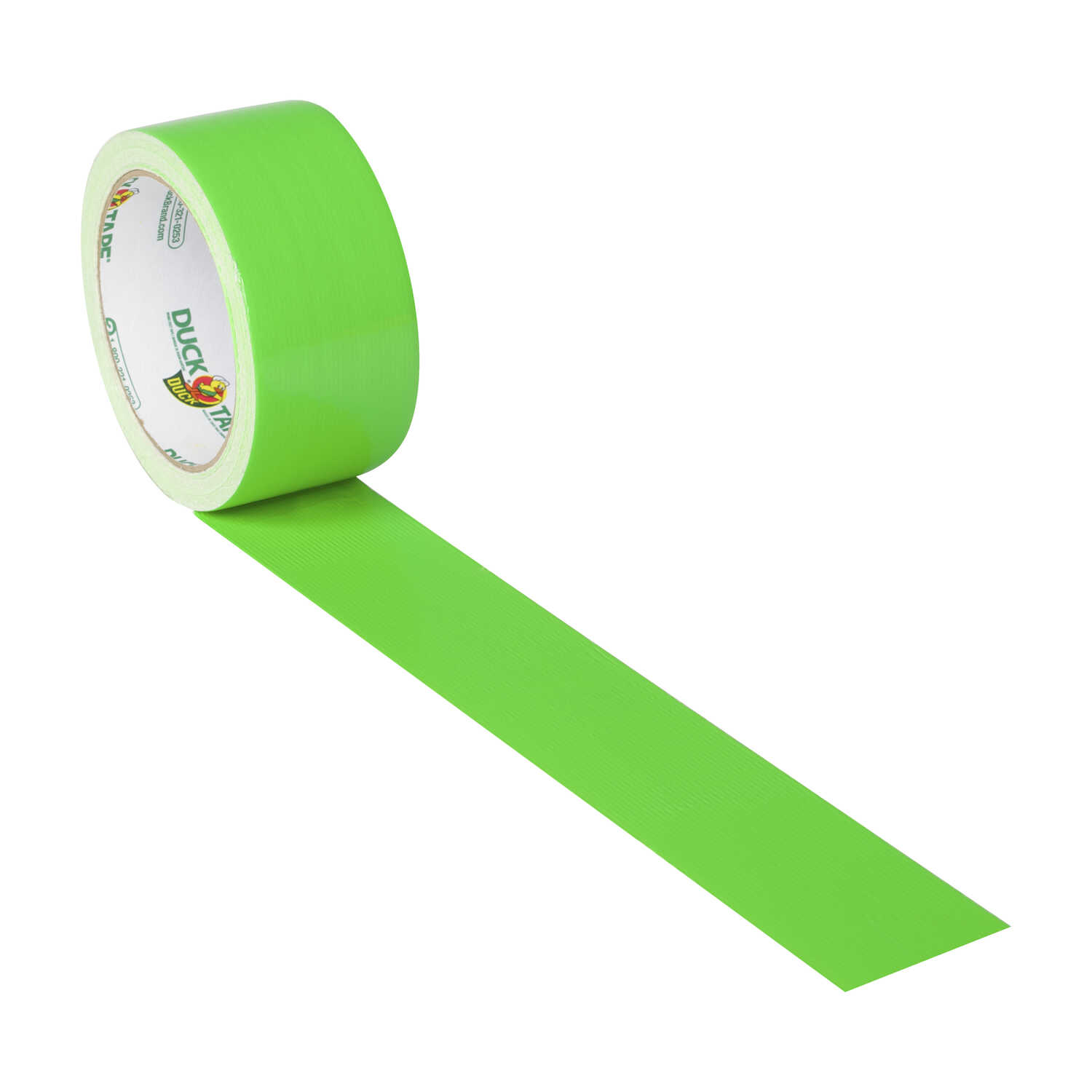 Duck  1.88 in. W x 15 yd. L Neon Green  Solid  Duct Tape