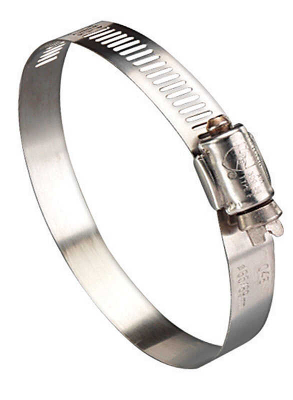 Ideal  1-1/4 in. 2-1/4 in. Stainless Steel  Hose Clamp