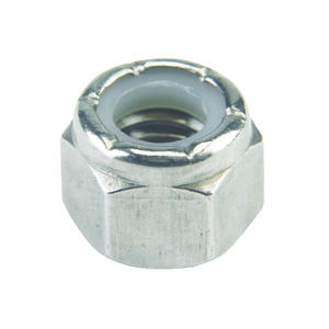 Hillman  3/8   3/8 in. Stainless Steel  SAE  Nylon Lock Nut  50 pk